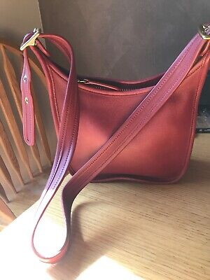 42591f3678 NEW!! COACH AUTHENTIC Vintage Janice s Red Legacy Leather Crossbody ...