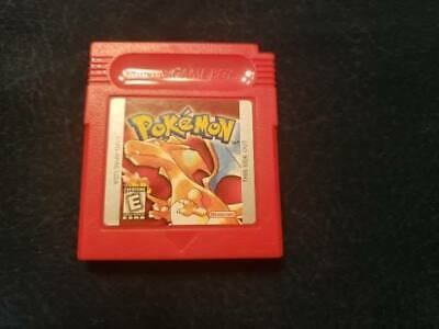 Pokemon: Red Version (Nintendo Game Boy, 1998) Authentic! Tested and Saves!