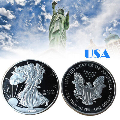 Moneda Año 2000 Walking Liberty American Eagle Silver - En Capsula