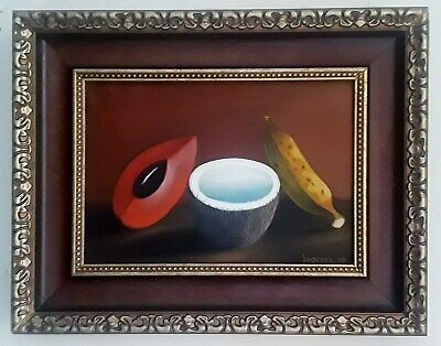 Clemente Segrera Cuban Artist Still Life Fruits Oil Painting on Canvas