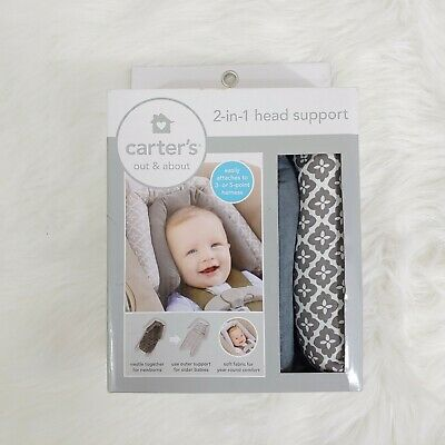 Carter's Infant 2-in-1 Head Support for Carseats & Strollers NEW
