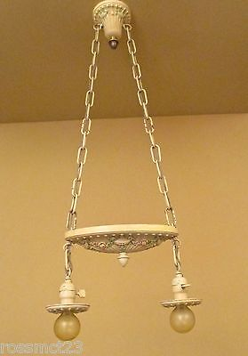 Vintage Lighting 1920s bedroom set. One ceiling fixture. Two sconces