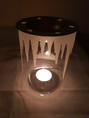 Yankee Candle Wax Melt Warmer Glass with glitter Sparkling Icicles