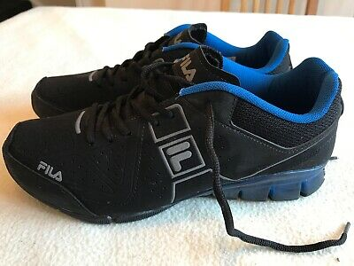 Women's Black Suede Fila Linear Trainers Size Uk 7