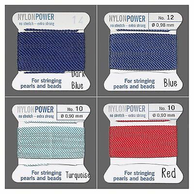 Griffin NylonPower thread for stringing pearls and beads #1 to #16 100% Nylon.