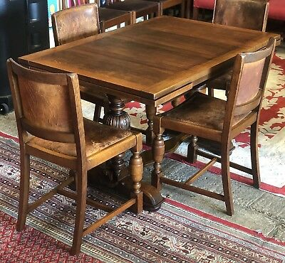 Rare Antique Oak Refectory Drawleaf Farmhouse Dining Table