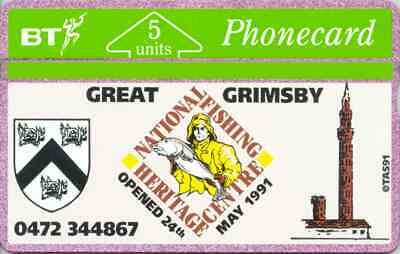 BTG011  National Fishing Heritage Centre Phonecard. Early issue 1991 Cat £30