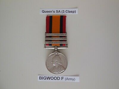 Queen Victoria Boer War Queen's South Africa Service QSA Medal, 3 Clasps, Named