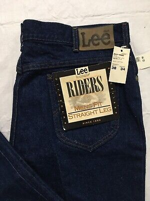 Vtg Lee Riders Size 38x34 Mens Fit Jeans Straight Leg USA Union Made NWT NOS