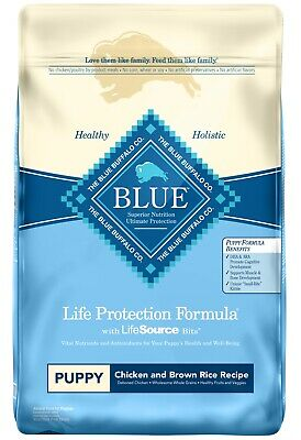 Blue Buffalo Life Protection ~ Puppy ~ Chicken & Brown Rice Dog Food ~ 30 lb !!!