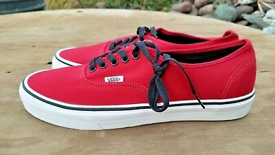 b1903096204115 VANS AUTHENTIC CHILI PEPPER- Black canvas shoes Men s 11.5 New without box