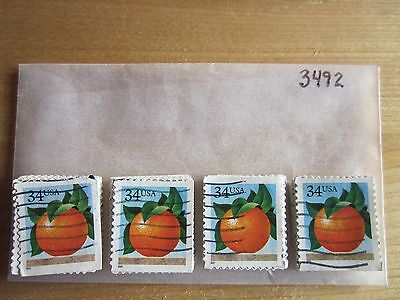 # 3492 x 100 Used US Stamps Lot  Orange Issue  See our other lots