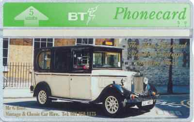 BTG342  1st Licensed Vintage London Taxi -  Collectable Phonecard