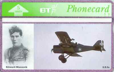 BTG356 Knights Of The Air (2) - Edward Mannock -  Collectable Phonecard