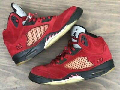 sneakers for cheap 35214 ea429 Nike Air Jordan Retro 5 Raging Bull Red Suede DMP Size 11 100% Authentic.