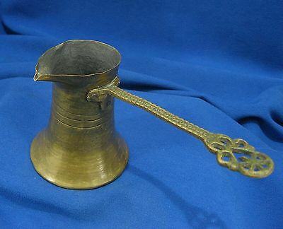 Antique Turkish Ottoman Islamic Handmade Brass Coffee Pot