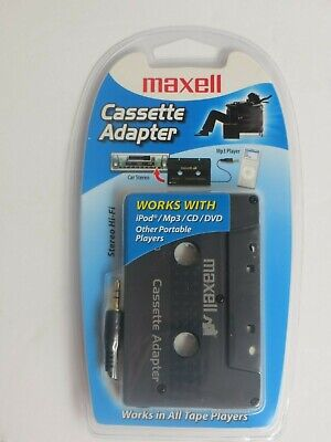 Maxell Tape Cassette Player Adapter Model CD-330 iPod Mp3 CD NEW