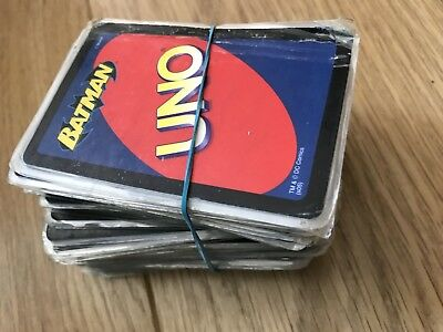 UNO Batman cards playing game classic fun family friends travel children party