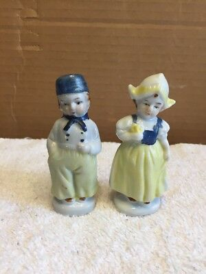 Vintage Pair Of Dutch Style Boy And Girl Figurines