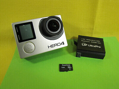 GoPro Hero 4 Black Edition 12MP UHD 4K Action Camera CHDHX-401 BuyNOWgetFAST #yG