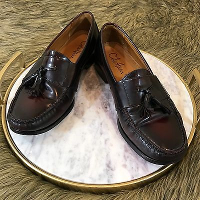 6d2a5ee72a1 Cole Haan Men s Sz 9.5 M Brown Leather Dress Shoes Business Tassel Loafers