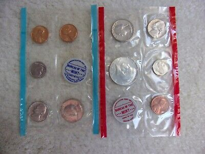 1970 U S MINT UNCIRC. COIN SETS -  P-D-S Large Date Cents - 10 Coins - Envelope