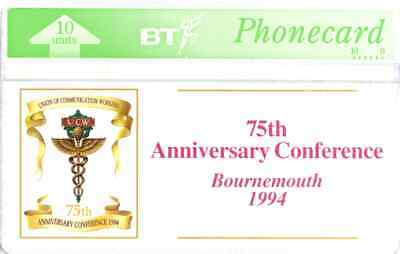 BTI072  UCW 75th Anniversary Conference  - Phonecard
