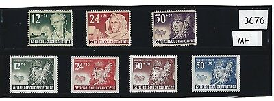 #3676     Two Complete MH Stamp sets / Winter  Relief / 1940 Poland Occupation