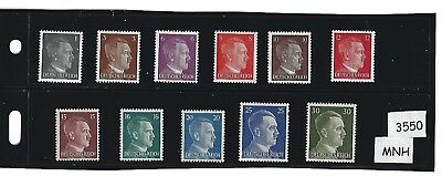 #3550     MNH stamp set / Adolph Hitler / Third Reich / Nazi Germany / 1941-1944