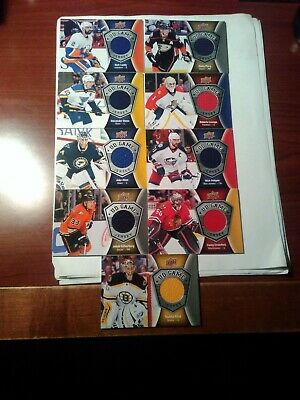 2016-17 Upper Deck Ud Game Jersey 9 Card Lot,rask,perry,luongo, Crawford,+++++