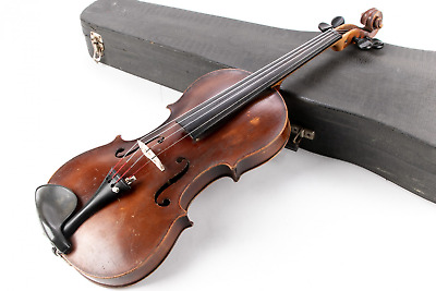 Antique Violin 19th Century German Label