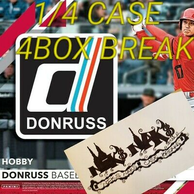 Toronto Blue Jays 2019 Donruss Baseball 1/4 Case 4 Box Live Break #30 Hobby
