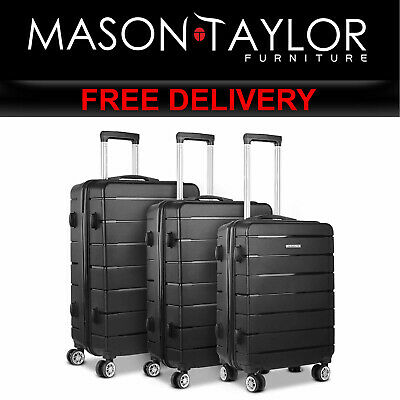 MT Wanderlite 3PC Luggage Suitcase Trolley - Black LUG-PP-LINE-3SET-BK AU