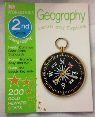 DK Paperback Workbooks Geography Second Grade Children Educational Key Skills