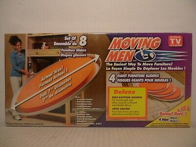Beau NEW Moving Men Set Of 8 Furniture Sliders (4 Giant 4 Mini Sliders) As