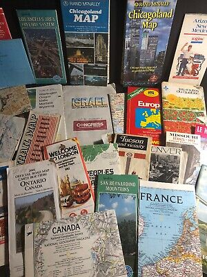 VINTAGE MAP LOT - USA / Europe / Canada - 1970/80/90s - FREE SHIPPING!