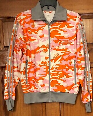6fa91a592337 Adidas Women s track jacket RESPECT me MISSY ELLIOT white pink camo crown  Large