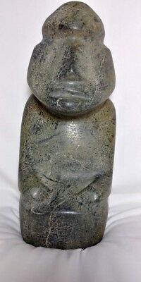 Extremely rare Pre-Columbian Mezcala stone Drummer figure from Mexico. CA....
