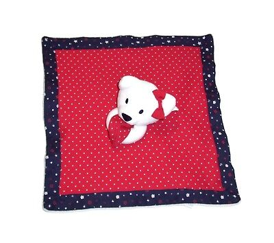 Gymboree Red White Blue Bear Westie Baby Blanket Polka Dots Flowers Bow 2016