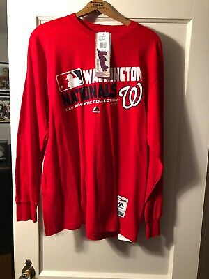 3863b598a WASHINGTON NATIONALS BASEBALL Jersey - Men s Large - Majestic - Sewn ...