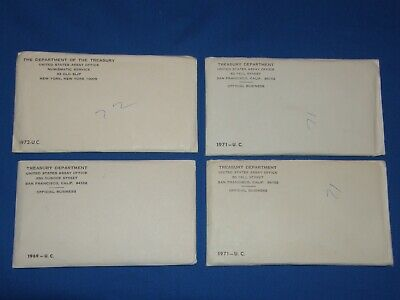 1969, (2) 1971, 1972 UNCIRCULATED Unopened US Mint Sets - P, D, S 43 Coin total