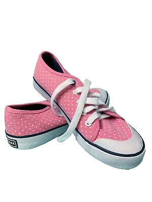 60f14f963 GIRL S TOMMY HILFIGER pink Dots Canvas Fashion Sneakers Shoes size 3 EUR 35