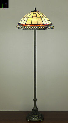 Autumn Sale  Tiffany Valley Forge Stained Glass Floor Lamp Art Deco Leadlight