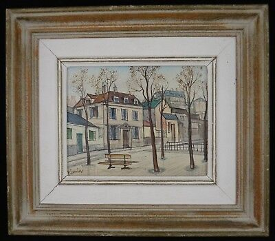 Paul Lambert (French, b. 1910) Oil on canvas, signed cityscape painting. c.1950