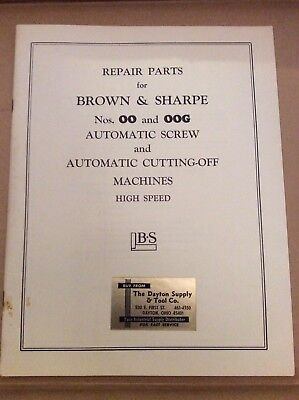 BROWN /& SHARPE OO SPINDLE SPEED GEAR CHART FOR SCREW MACHINES S//N 542-00-3300