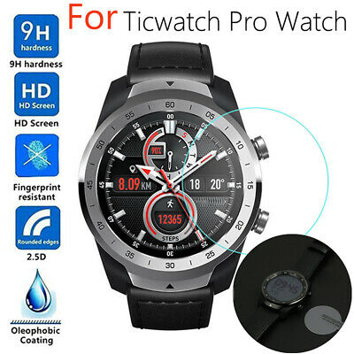Premium 9H Tempered Glass Screen Protector Guard Film For ticwatch pro Watch New