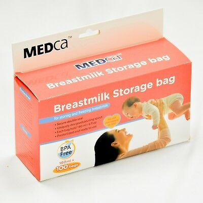 Breastmilk Storage Bags 100 Count, BPA Free 6oz / 180ml