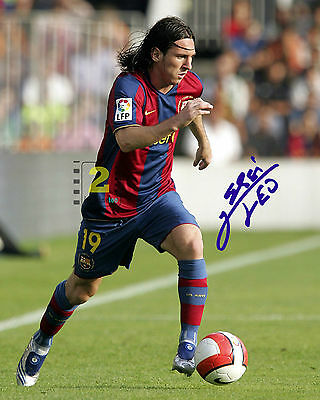 "Lionel Messi 2006 Argentine footballer 8""x 10"" Signed Color PHOTO REPRINT"