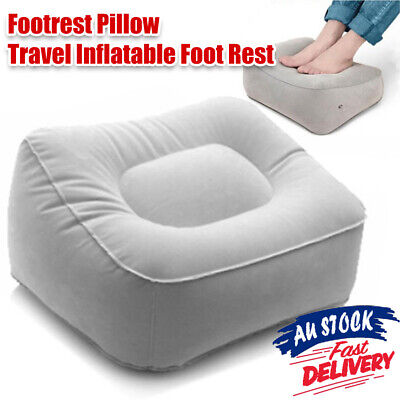 MN Pad Footrest Travel Flight Inflatable Foot Plane Portable Train Rest Pillow