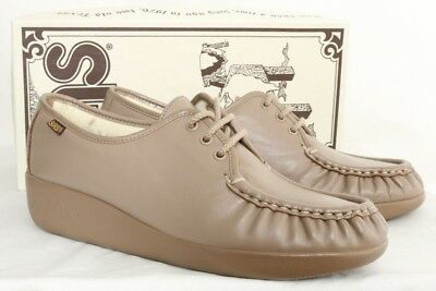 Bone Womens 6 5 Sas Siesta Comfort Oxford Leather Walking Shoe Nib 6 rhQtsdCx